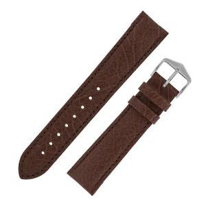 【送料無料】hirsch highland natural grain vintagelook calfskin leather watch strap brown