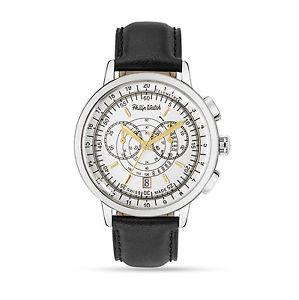 【送料無料】philip watch grand archive crono acciaio e bianco data r8271698003 pelle mag16