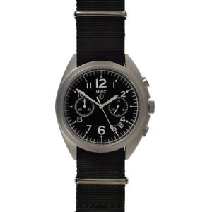 【送料無料】mwc cronografo ibrido meccanico quarzo acciaio nero tessuto orologio uomo