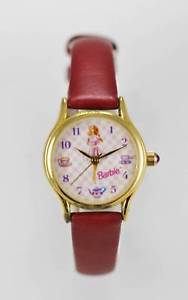 【送料無料】relic barbie watch womens stainless steel gold leather maroon white pink quartz