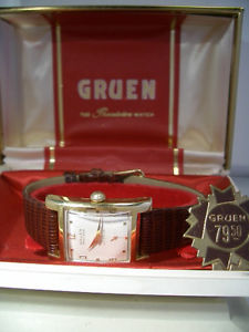 【送料無料】vintage art deco gruen precision autowind herrenuhr cal 480 incl box