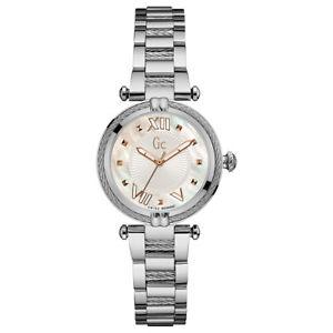 【送料無料】guess collection womens gc ladychic 32mm steel bracelet quartz watch y18001l1