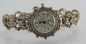 【送料無料】vintage hamp;l silber 925er damenuhr quartz