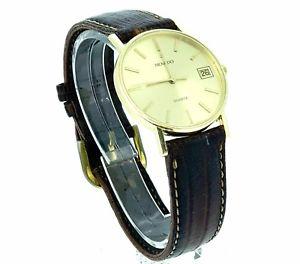 【送料無料】movado 14k swiss quartz wristwatch engraved free shipping usa