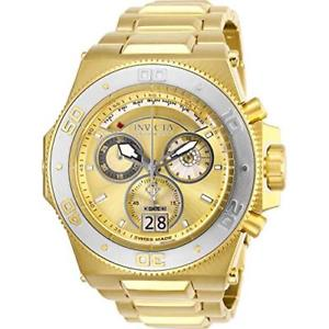 invicta mens 26053 akula quartz chronograph gold stainless steel watch