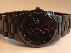 【送料無料】bering mens ceramic calendar watch 32339782 rrp 299