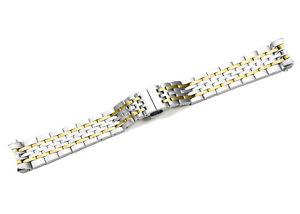 【送料無料】19mm golden tone straight end link stainless steel bracelet for tissot le locle