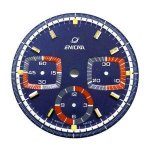 【送料無料】enicar ersatzteil, zifferblatt fur enicar chronograph , valjoux 72