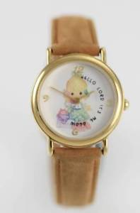 【送料無料】prescious moments womens brown leather stainless steel 24hr wr quartz watch