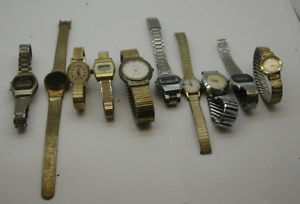 watchlot of 10 untested for parts timex elgin helbros and others r14535