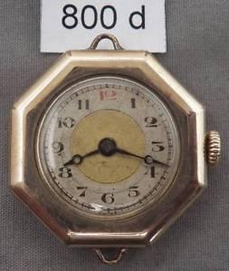 【送料無料】antique swiss ladies wrist watch, ygf, octagon case