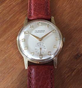 【送料無料】9ct gold 1975 vintage j w benson london presentation watch