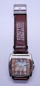 【送料無料】kenneth cole mens stainless steel skeleton wrist watch kc1452