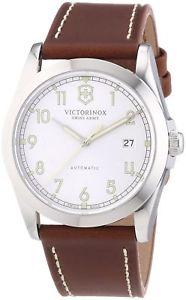 【送料無料】victorinox swiss army mens infantry 241566 brown leather swiss automatic watch
