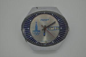 【送料無料】vintage ussr russian wristwatch olympic poljot stadium serviced[260]