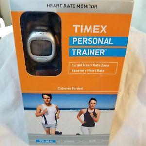 【送料無料】timex personal trainer heart rate monitor watch wr 30m and chest strap