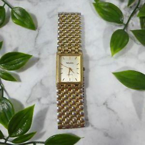 【送料無料】vintage gruen quartz gold toned wristwatch watch size 860 for parts