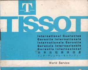 tissot watch guarantee certificate 1970s vintage booklet  unsigned blank
