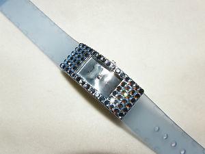 【送料無料】glitzy light saphire blue austrian crystal watch formal prom mothers day gift