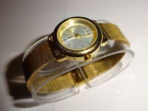 【送料無料】guess i50351l2 womens goldtone mesh watch