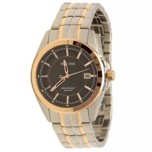 【送料無料】bulova mens 98b268 precisionist twotone stainless steel analog watch