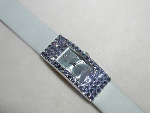 【送料無料】pretty light saphire blue austrian crystal watch formal prom mothers day gift