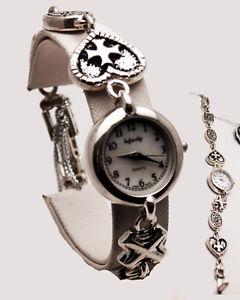 【送料無料】infinity womens antique jesus cross heart link sterling silver 925 analog watch