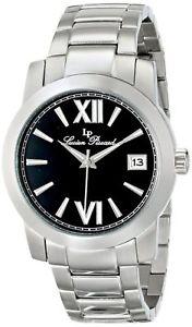 【送料無料】 lucien piccard lp1002611mens bordeauxquartz classic silver round watch