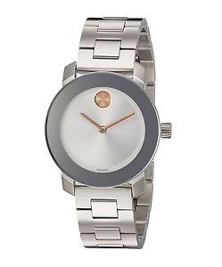 【送料無料】 movado bold stainless steel womens 30mm swiss quartz watch 3600433