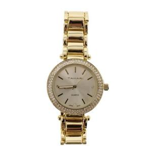 【送料無料】tahari womens gold pave round fashion wristwatch os bhfo 0673