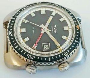 【送料無料】nos vintage wyler diver alarm gmt lifeguard incaflex men wristwath case