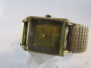 【送料無料】estate vintage gotham mens swiss wristwatch 10k gold filled