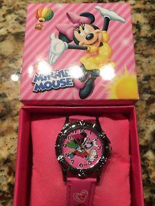 【送料無料】minnie mouse girls wrist watch nib with collectors box pattern 3