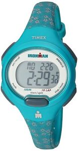 【送料無料】timex womens tw5m07200 ironman essential 10 midsize teal floral resin watch