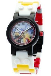 【送料無料】lego city fireman kids buildable watch w link bracelet and minifigure