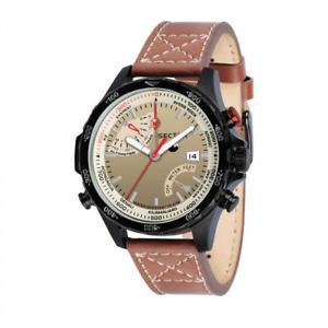 【送料無料】orologio tempo e data uomo sector master r3251507001 marrone nuova collezione