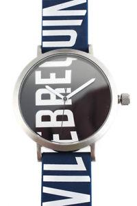 【送料無料】vilebrequin mens wrist watch blue rubber logo stainless steel