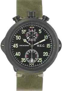 【送料無料】orologio uomo cronografo quarzo vintage militare acciaio subacqueo mec nuovo