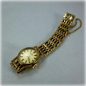 【送料無料】ladies 9ct gold rotary bracelet watch