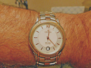 croton 18k solid yg  accents34mm wo 825 size wristvery rareall marked