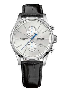【送料無料】hugo boss 1513282 herrenuhr chrono chronograph leder schwarz neu