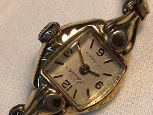 【送料無料】vintage elgin starlite ladies wristwatch elgin 799 windup original box runs