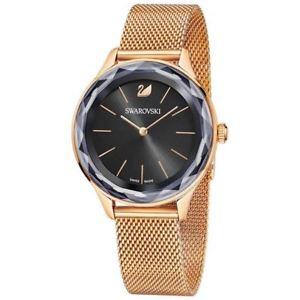 【送料無料】orologio swarovski octea nova 5430424 donna watch maglia milanese oro rosa nero