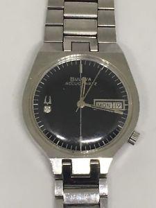 【送料無料】bulova accuquartz watch asymmetrical n4