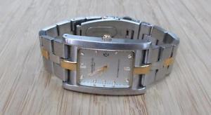 【送料無料】kenneth cole mens twotone stainless steel wristwatch w date window ~ 6h5713