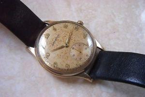 【送料無料】a 9k cased movado manual wind wristwatch c1951