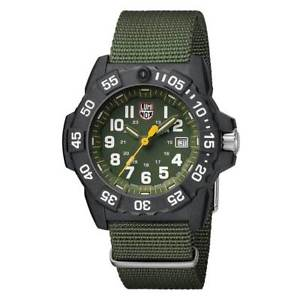 【送料無料】luminox 3517 mens navy seal 3500 trident green strap watch