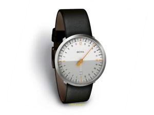 24 stunden uhr quarz einzeigeruhr botta uno 24 neo wei  klassiker
