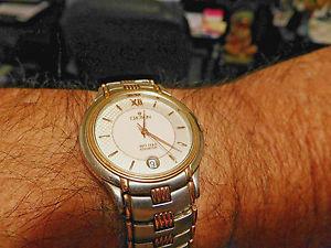 【送料無料】croton 18k solid yg accents34mm wo 825 size wristvery rareall marked