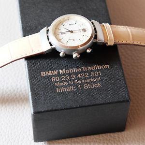 【送料無料】rare bmw men 315 watch tachymeter chronograph leather stainless steel swiss made